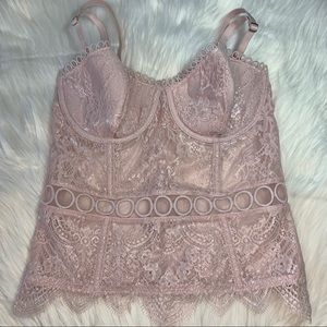 NWT Victoria's Secret Bustier Light Shimmery Pink